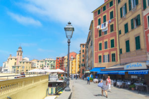 The picturesque fishing village of Camogli, Camogli, Liguria, Italy, Europe