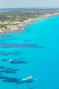 Formentera Island, top view, Formentera, Balearic Islands, Spain