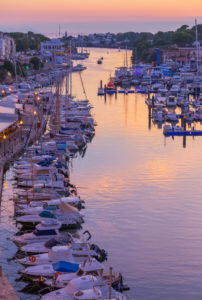 Historic old harbour and old city, Ciutadella, Menorca, Balearic Islands, Spain, Europe,