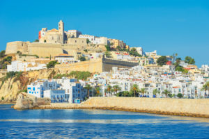 Ibiza old town and harbor, Ibiza town, Ibiza, Balearic Islands, Spain, Europe
