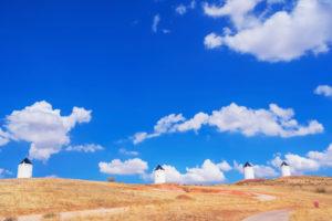 Windmills, Campo de Criptana, Ciudad Real Province, Castilla-La Mancha, Spain,