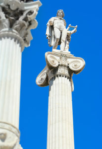 Statues of Apollo outside Academy of Athens,Athens,Greece