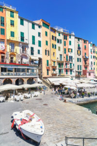 View of Portovenere village, Portovenere, La Spezia district, Liguria, Italy