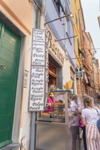 Food street shop, Portovenere, La Spezia district, Liguria, Ital