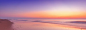 Netherlands, Holland, beach on the West Frisian island of Texel, North Holland, sunset,
