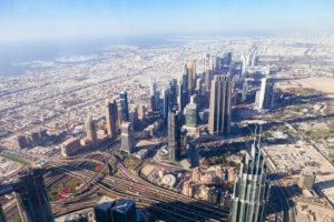 Dubai skyline from above