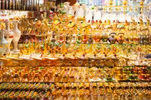 Dubai, golden souvenirs at gold souk
