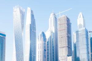 Dubai skyscrapers at Dubai Marina