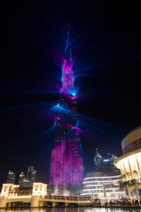 Dubai, Burj Khalifa lasershow