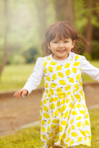 Girls, happy, dress, run,