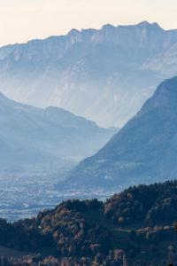 Haze in the alp valleys