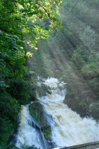 Germany, Baden Wurttemburg, Black Forest, Triberg, Triberg Waterfalls, Germany's highest waterfalls