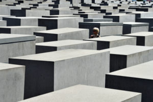 Germany, Berlin, Mitte district, Holocaust Mahnmal / Holocaust Memorial for victims of the Holocaust by the architect Peter Eisenmann