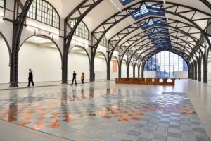 Germany, Berlin, Moabit district, Hamburger Bahnhof, former 19th century train station, it became a museum for contemporary art in 1996 (Museum für Gegenwart), work of Carl Andre