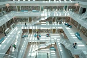 Germany, Baden-Wurttemburg, Stuttgart, Mailander Platz, new Stuttgart city library