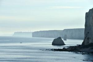 France, Seine Maritime, Pays de Caux, Cote d'Albatre (Alabaster Coast), Etretat, Amont cliff