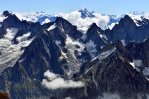 France, Haute Savoie, Chamonix Mont Blanc, Mont Blanc range, Grandes Jorasses (4208m)