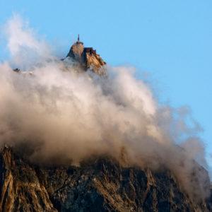 France, Haute Savoie, Chamonix Mont Blanc, Aiguille du Midi (3848m)