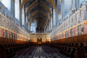 France, Tarn, Albi, the episcopal city, listed as World Heritage by UNESCO, the Ste Cecile cathedral, the choir