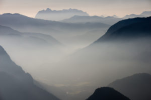 Mountains, Alps, autumn haze, view from Predigtstuhl