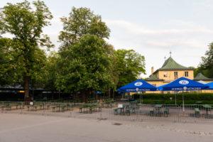 Beer garden, Chinese tower, Munich, English garden, end of lockdown, distance,