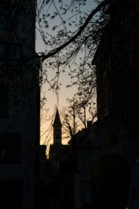 Abendstimmung, Ludwigskirche, München, Bayern, Architektur