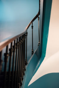 Staircase in Paris, detail, railing, handrail