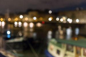 Frankreich, Paris, Stadtansicht, Boote an der Seine, nachts, Unschärfe