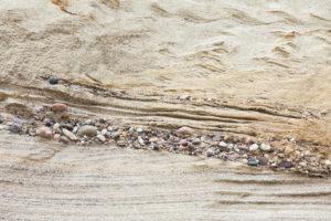 Schichtungen in einer Sandgrube