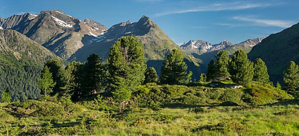 Blick vom Hirschbichl ins Defereggental, Hohe Tauern, Osttirol, Tirol, Österreich