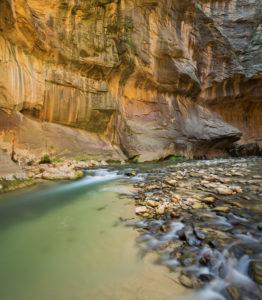 Virgin River, Narrows, Schlucht, Zion National Park, Utah, USA