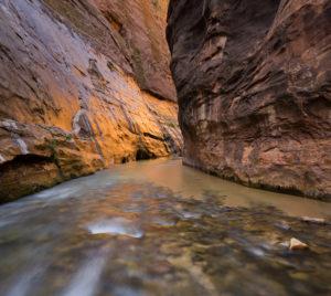 Virgin River, Narrows, canyon, Zion National Park, Utah, USA