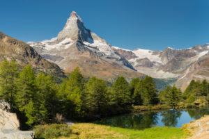 Grindjisee, Matterhorn, Zermatt (village), Valais, Switzerland