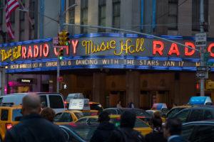 Radio city Music Hall, 6Th avenue, Manhattan, New York city, New York, the USA