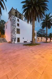 Church in San Andrés, palms, island La Palma, Canary islands, Spain