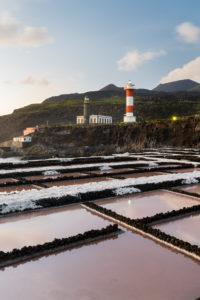 Lighthouse Faro de Fuencaliente, Salinas de Fuencaliente, island La Palma, Canary islands, Spain