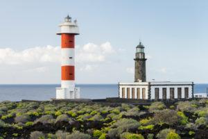 Lighthouse Faro de Fuencaliente, island La Palma, Canary islands, Spain