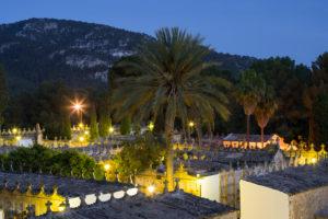 Cemetery in Andratx, Majorca, the Balearic Islands, Spain