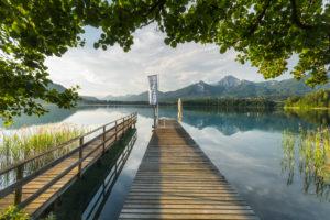 Faaker See, Steg, Mittagskogel, Kärnten, Österreich