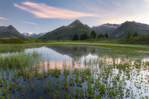 View from the Hirschbichl into the Defereggental, Hutner (2885m), Hohe Tauern, Osttirol, Tyrol, Austria