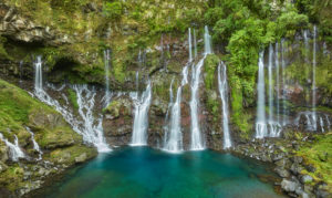 Wasserfall Cascade de la Grande Ravine, Langevin, Reunion,