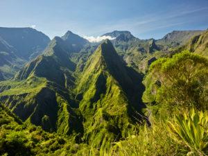Blick vom Aussichtspunkt Cap Noir, Cirque de Mafate, Reunion,
