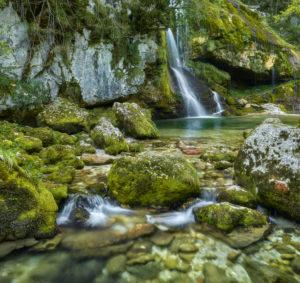 Slap Virje, Bovec, Soca valley, Slovenia