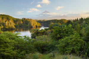 Lake Mangamahoe, Mount Taranaki, North Island, New Zealand, Oceania