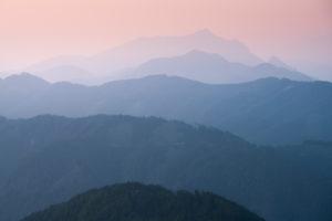 Blick von der Kapelleralm in die Gailtaler Alpen, Goldeck, Kärnten, Österreich