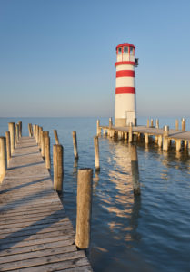 Lighthouse in Podersdorf am See, Neusiedlersee, Burgenland, Austria
