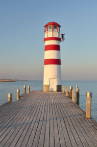 Lighthouse in Podersdorf am See, Neusiedlersee, Burgenland, Austria