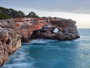 Es Puntas rock hole, Mallorca, Balearic Islands, Spain