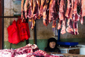 Lhasa, Old Town, Butcher