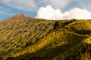 the summit of the Gunung Rinjani